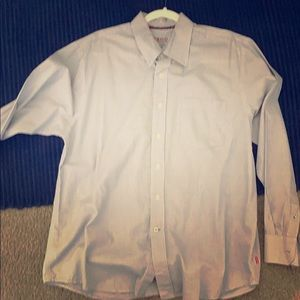 IZOD men's dress shirt L gray